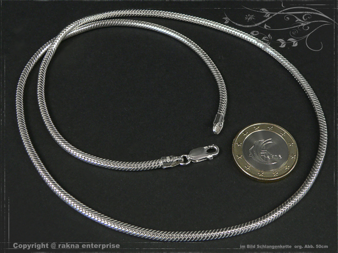Snake Chains 925 silver 3mm solid