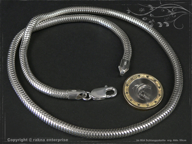 Snake Chains 925 silver 5mm solid