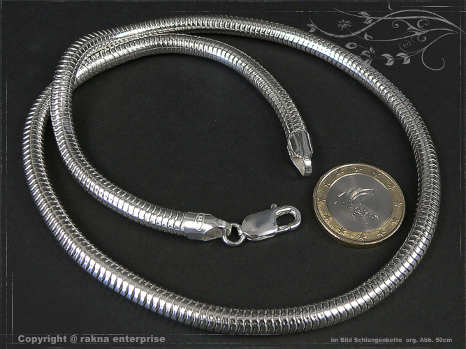 Snake Chains 925 silver 6mm solid